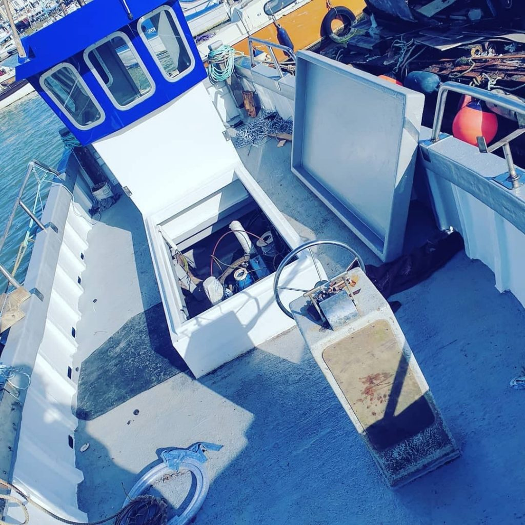 Cygnus 26 Displacement hull after a full refit, new deck beams deck wheelhouse and engine box created to transform this old workhorse